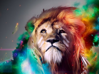 HD-Colorful-lion-Wallpaper