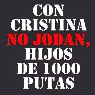 CON CRISTINA NO JODAN