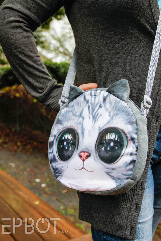 Giant Cat Heads Make Sweet Purses