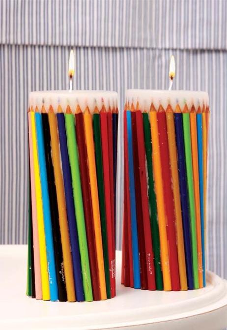 Como hacer velas con colores mimundomanual - Como hacer colores ...