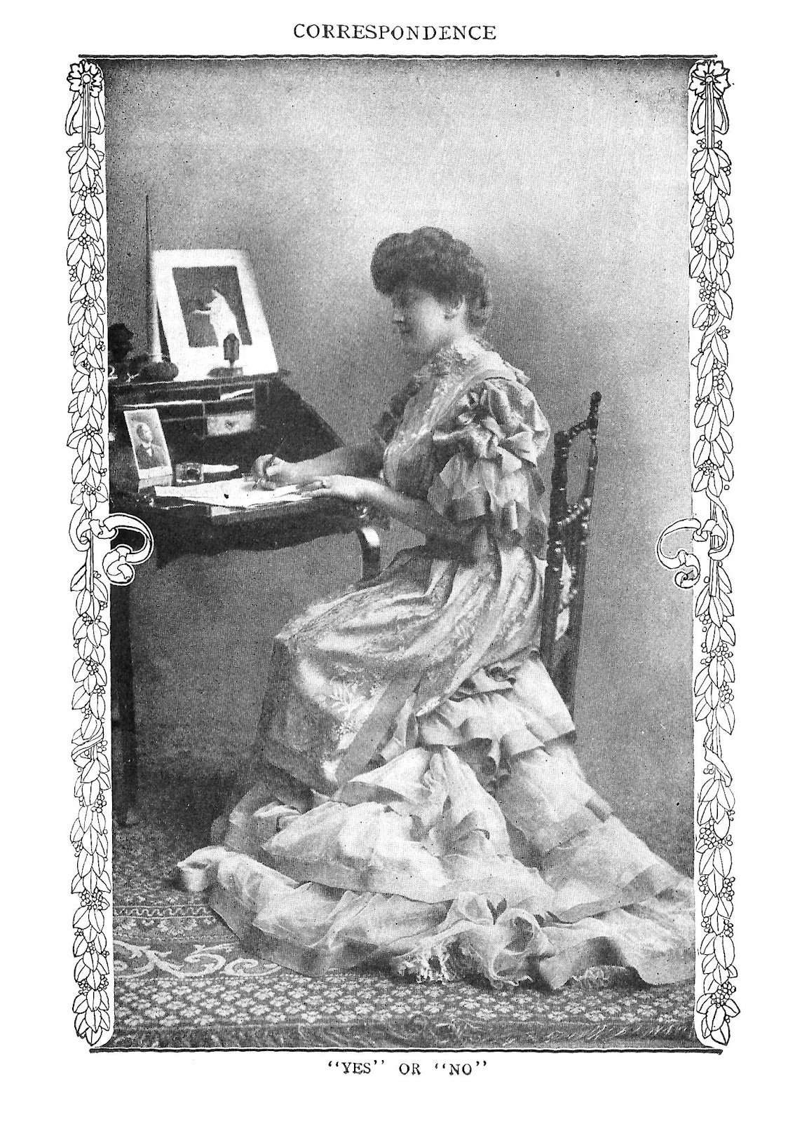 Free Antique Photo of Woman: Antique Photo of Woman Writing a Letter  Sitting at Desk - Antique Images: Free Antique Photo Of Woman: Antique Photo Of Woman