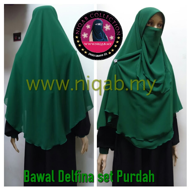 tudung labuh bawal, purdah bawal, tudung labuh bawal dengan purdah, pembekal niqab, pembekal tudung labuh, niqab collection