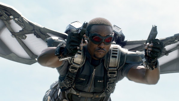 the falcon / sam wilson - anthony mackie in captain america the winter soldier