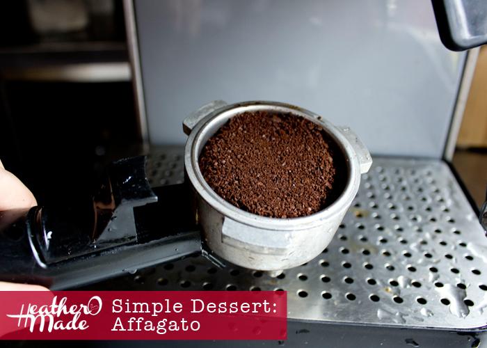 Simple Dessert. Affagato. easy recipe.
