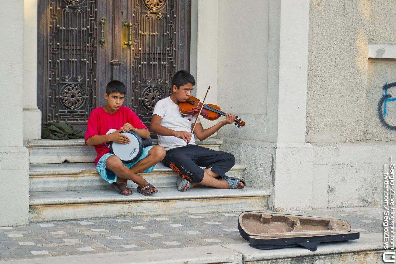 Street musicians, Antalya, Turkey, violin, Sokak müzisyenleri, Türkiye, keman