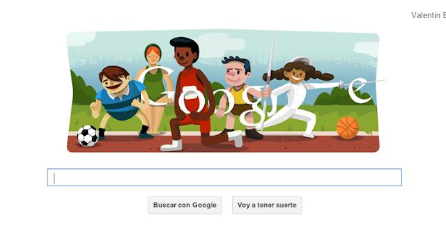 Google celebra con su doodle la Inauguración de los Juegos Olímpicos