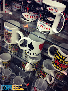 What happens in Vegas... Souvenir coffee mugs from Las Vegas, Nevada