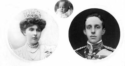 Alphonse XIII, Victoria Eugenie et l'infant Alfonso d'Espagne