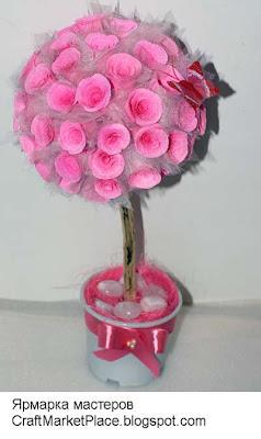 топиарий, дерево счастья, флористика на заказ