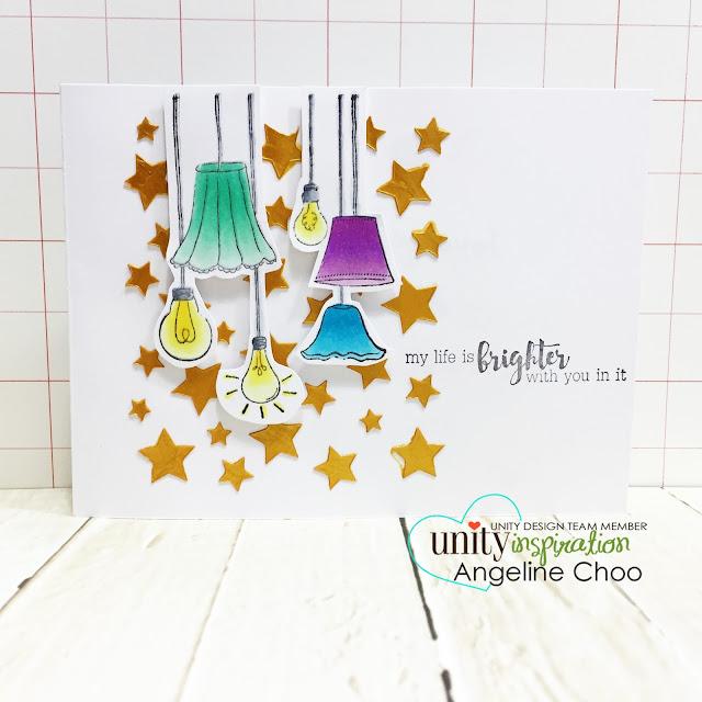 Unity Stamp: KOTM Monday with Angeline #unitystampco #scrappyscrappy #card #kotm #stamp