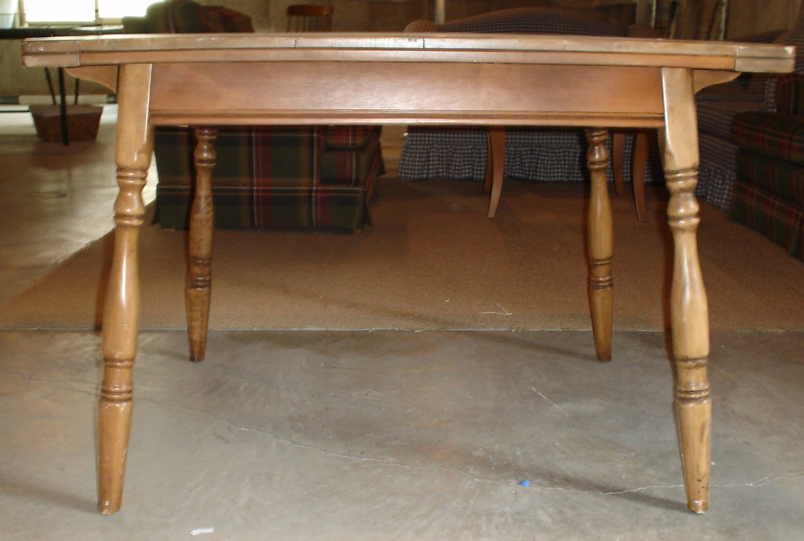 restored wood dining table