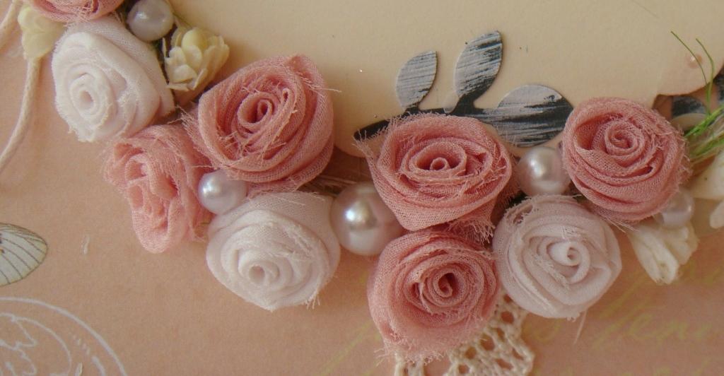 Цветы для скрапбукинга из ткани своими руками