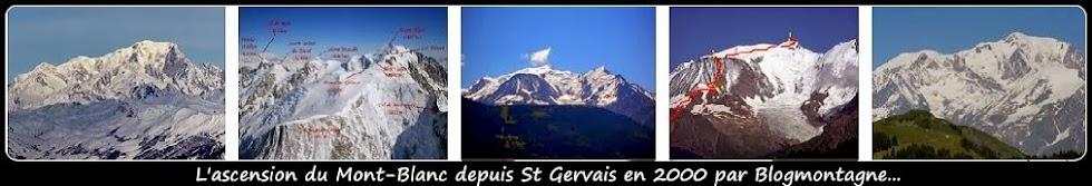 ➽  L'ascension du Mont-Blanc réalisée en 2000 par Blogmontagne  ~