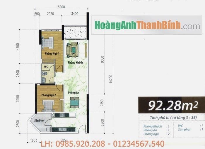 Căn hộ Hoàng Anh Thanh Bình 92m2   HoangAnhThanhBinh.com