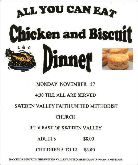 11-27 All You Can Eat Chicken & Biscuits, SVUMC