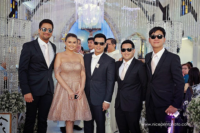 Best men and lady John Prats Isabel Oli wedding