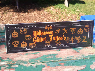 Halloween Glitter Tattoo's