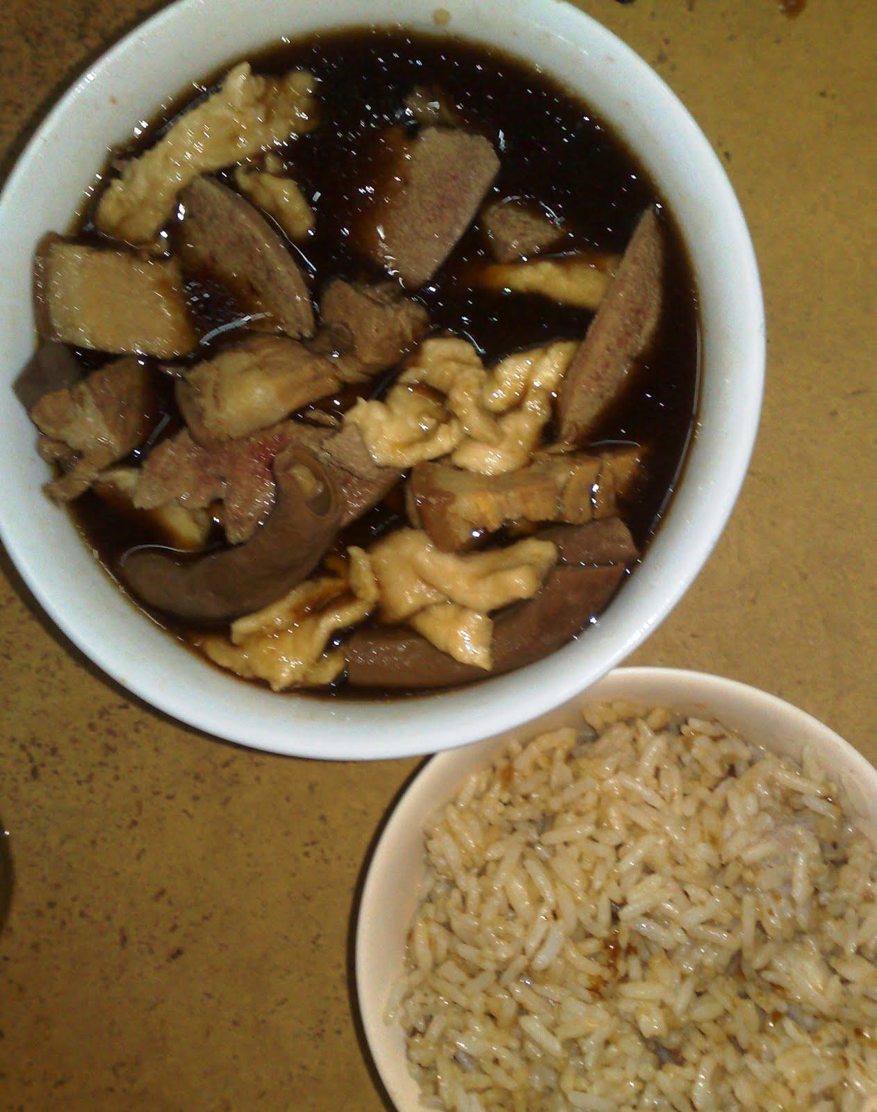 Yam Rice Pork Soup Mixed Pork Soup Of Malacca