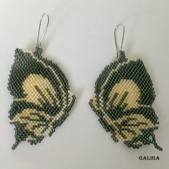 earrings beaded butterfly