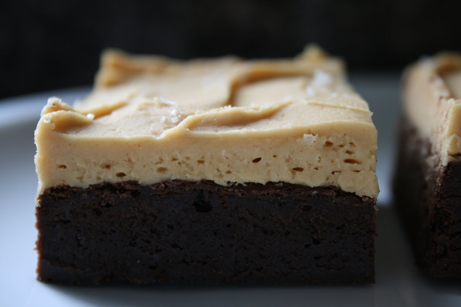 ... RECIPE BOX: Cocoa Brownies with Salted Peanut Butter Frosting