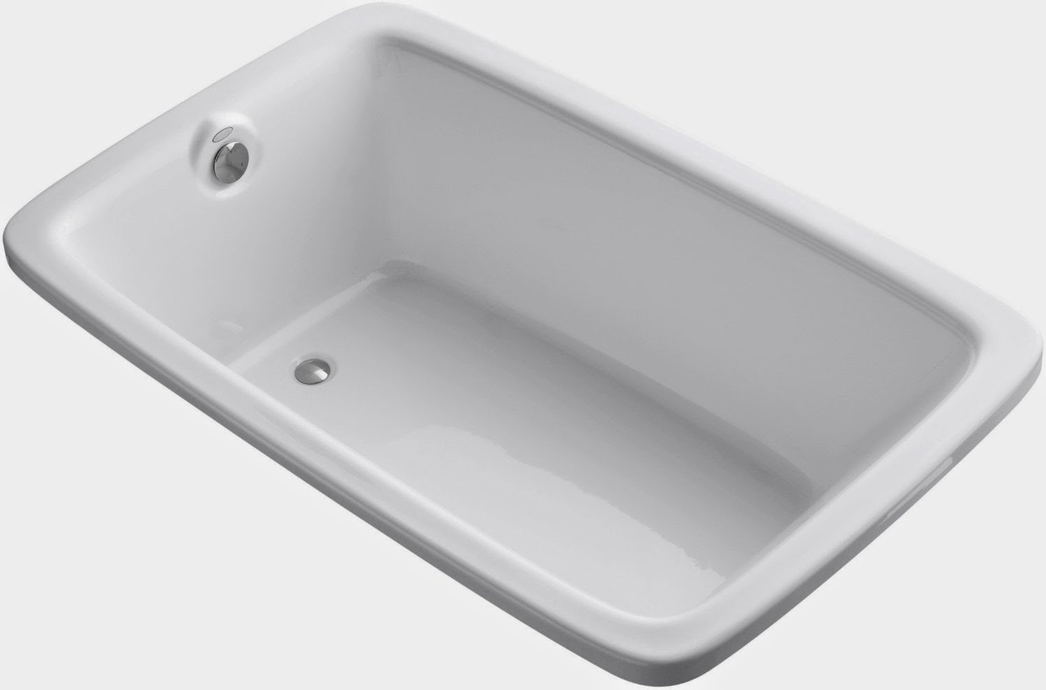 KOHLER K 1156 0 Bancroft Experience 5.5 Foot Drop In Bathtub, White