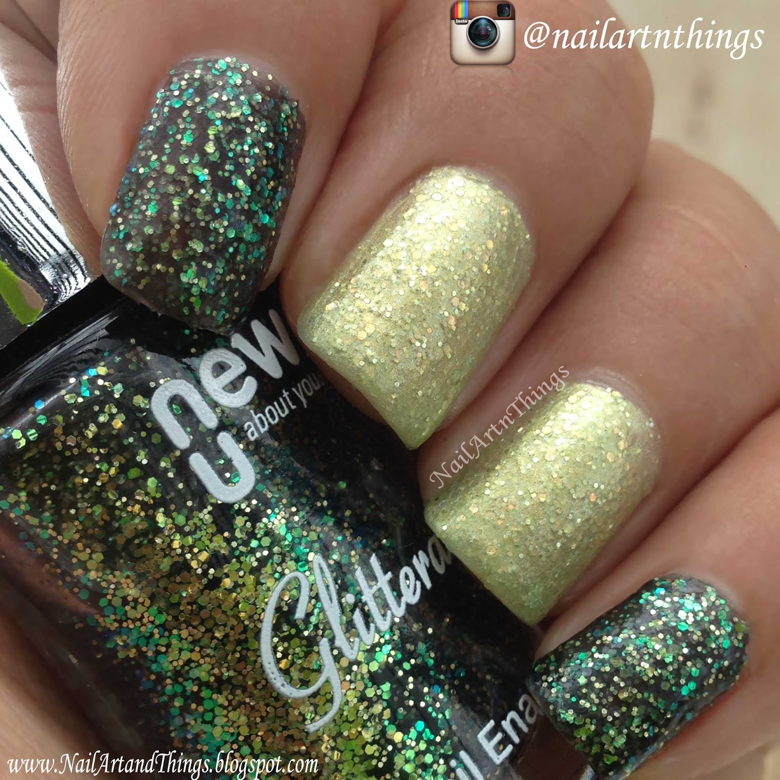 Nailart and things newu glitter nail art using outer for Outer space nail design