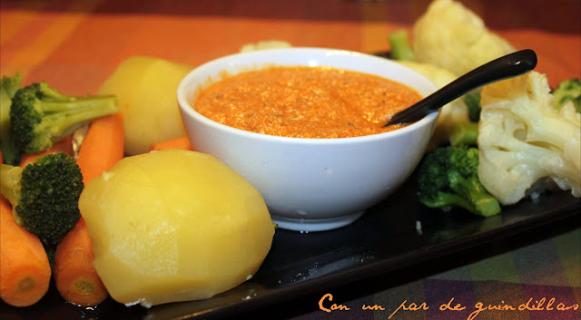 Verduras al vapor con vinagreta especial