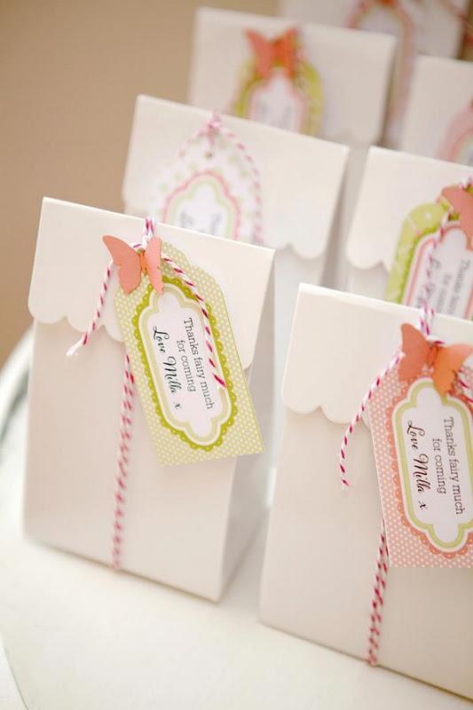 Lembrancinhas com sacos de pão para festa Jardim Encantado - Dicas