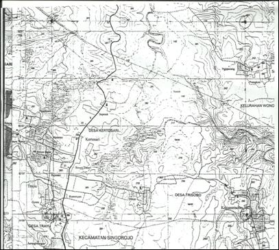 Geografi Lingkungan Peta Topografi Gambar Pulau Jawa