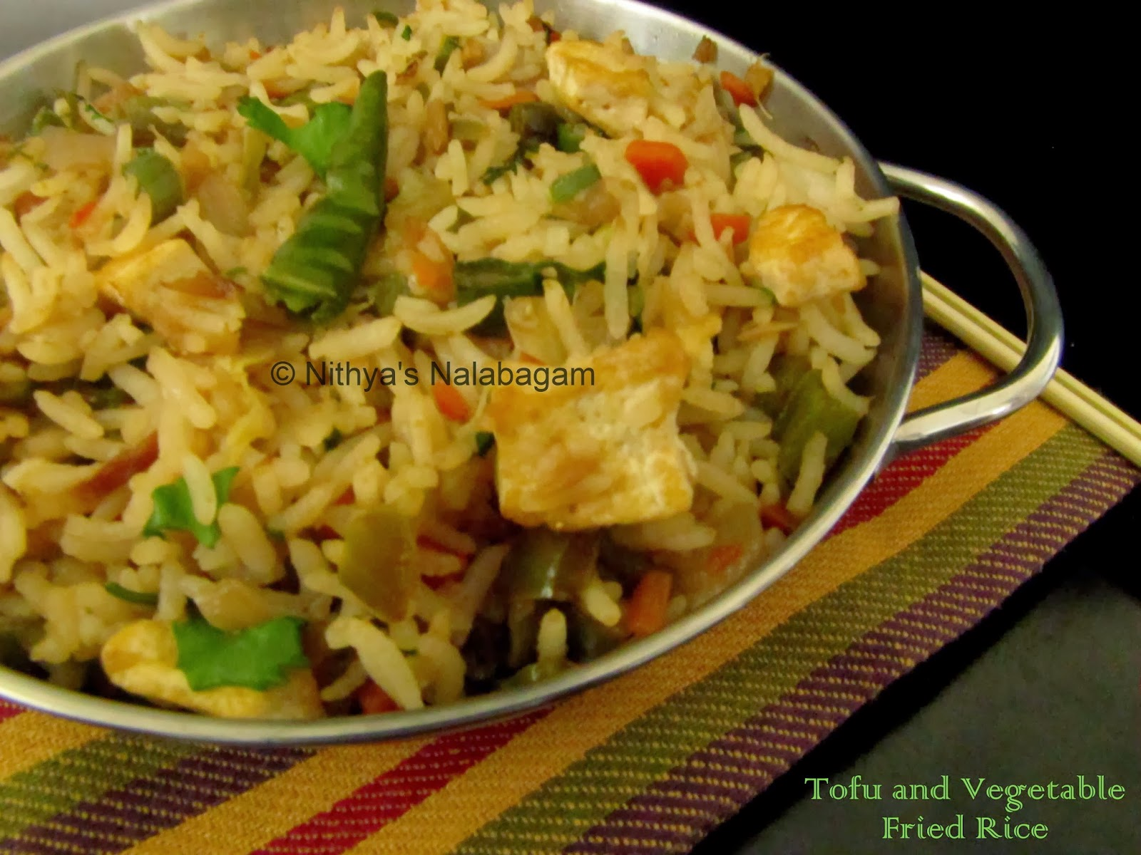 Tofu Vegetable Fried Rice