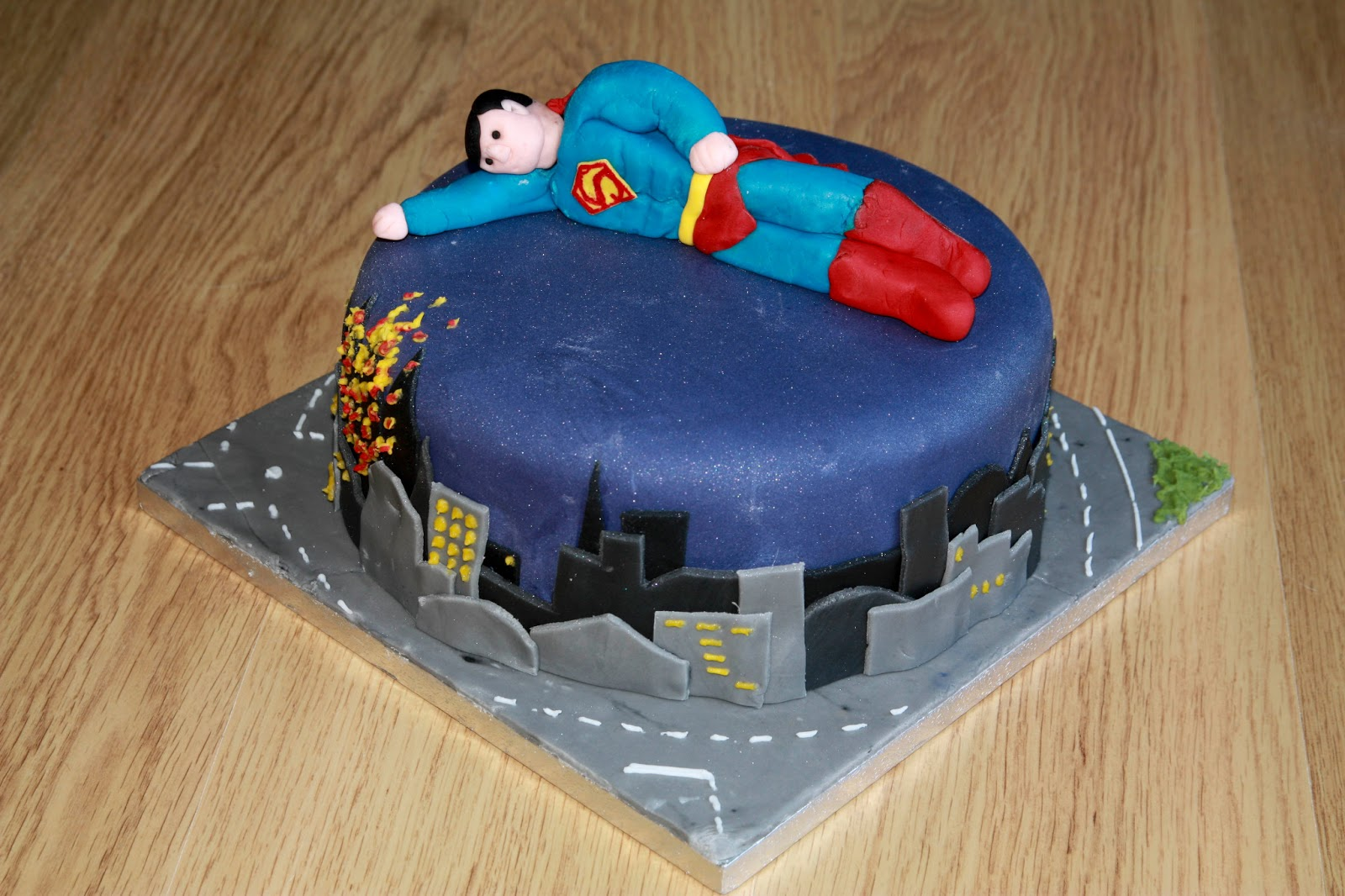 The Cake Trail Superman Chocolate Birthday Cake