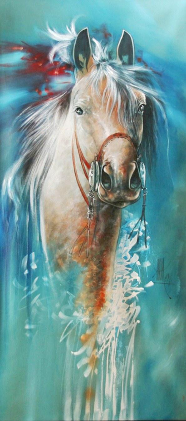 Pinturas cuadros lienzos cuadros modernos con caballos de for Imagenes cuadros modernos