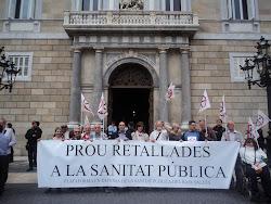 Con la plataforma del Baix Valles en la plaça de Sant Jaume
