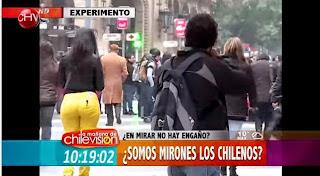 Con este Mujeron y este video te explican porque los chilenos son mirones
