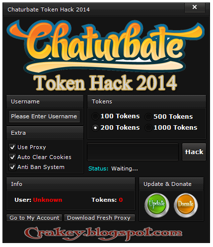 Chaturbate Token Hack 2015