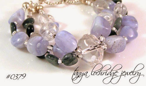 Blue Chalcedony & Eagle Eye Agate Bracelet