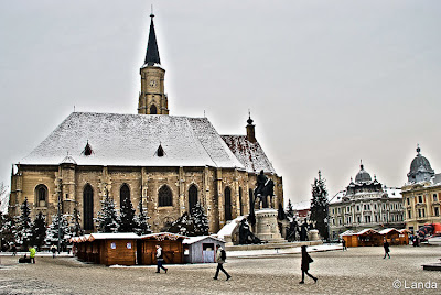 Plaza o Piaţa Unirii de Cluj-Napoca en Rumania