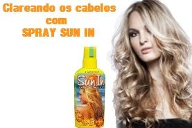 Como clarear os cabelos com Spray Sun In