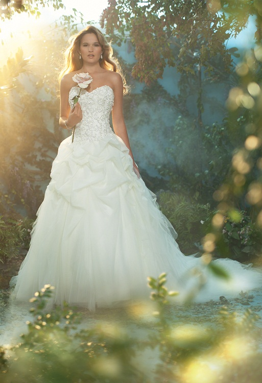 The 2013 alfred angelo disney fairy tale wedding gowns for Fairytale inspired wedding dresses