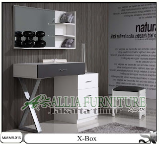 Meja rias model minimalis modern X-box