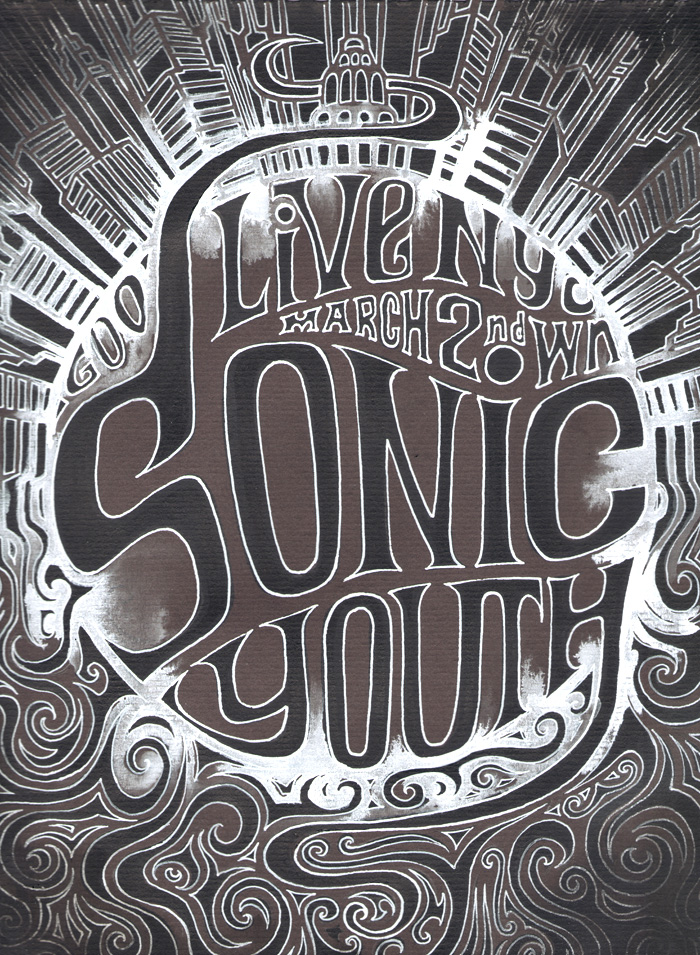 Sonic Youth by Regis Lagoeyte