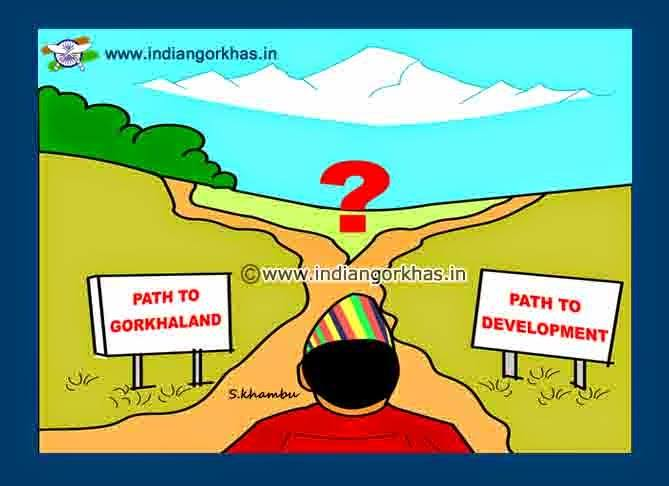 cartoon on gorkhaland