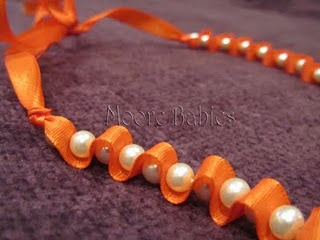 Beaded Ribbon Necklace Tutorial