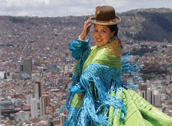 De Bolivia Cholitas Fashion Brillar N En Calendario