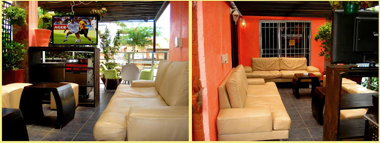 Come to Meli's Lounge and chill at our new Garden TV Lounge.