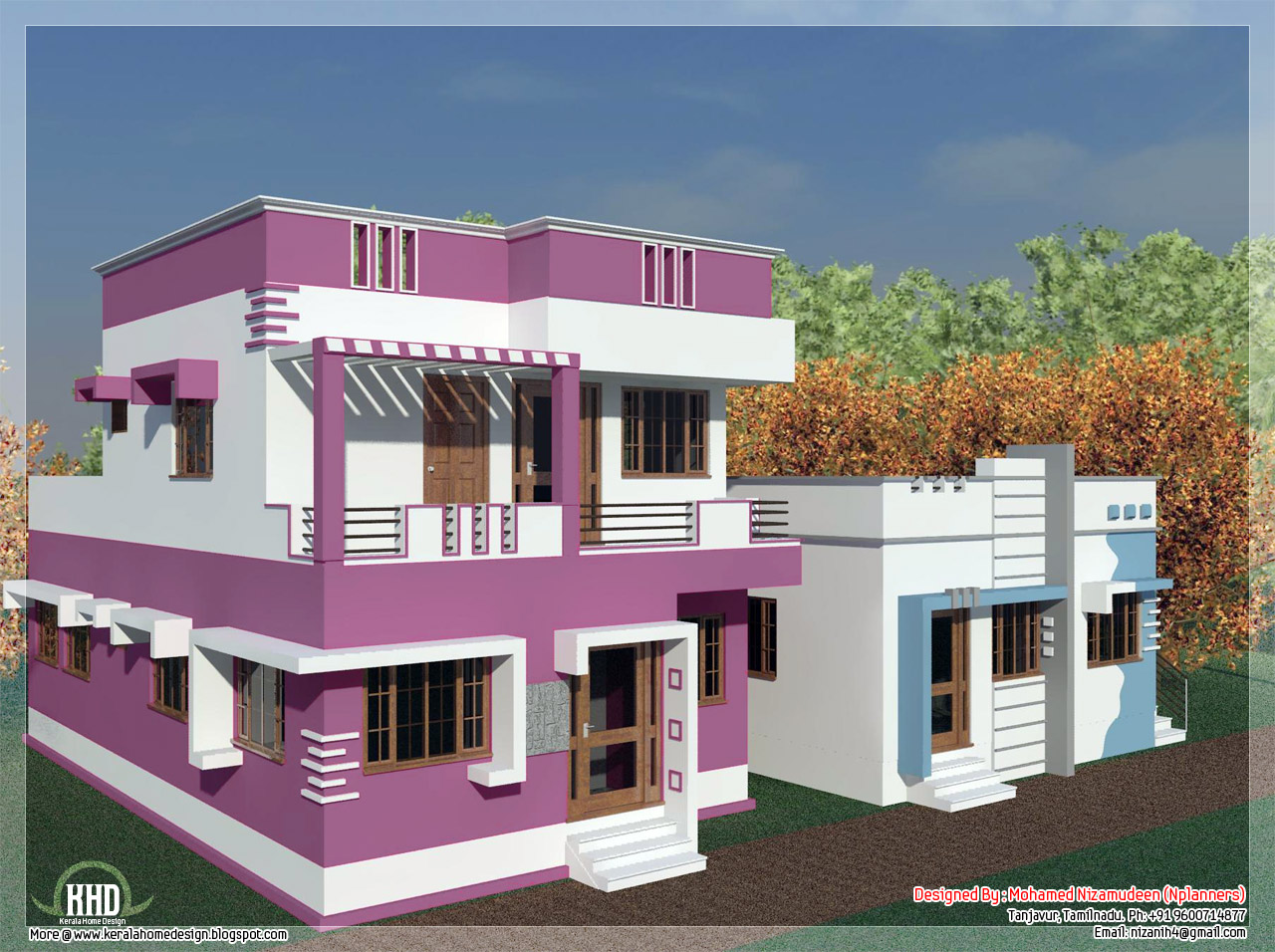 Tamilnadu model home desgin in 3000 kerala home for 2 bedroom house designs in india