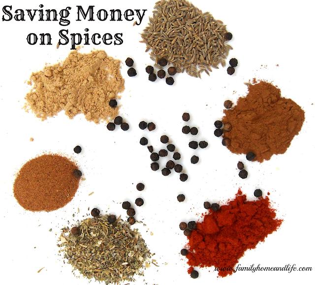 Saving Money on Spices