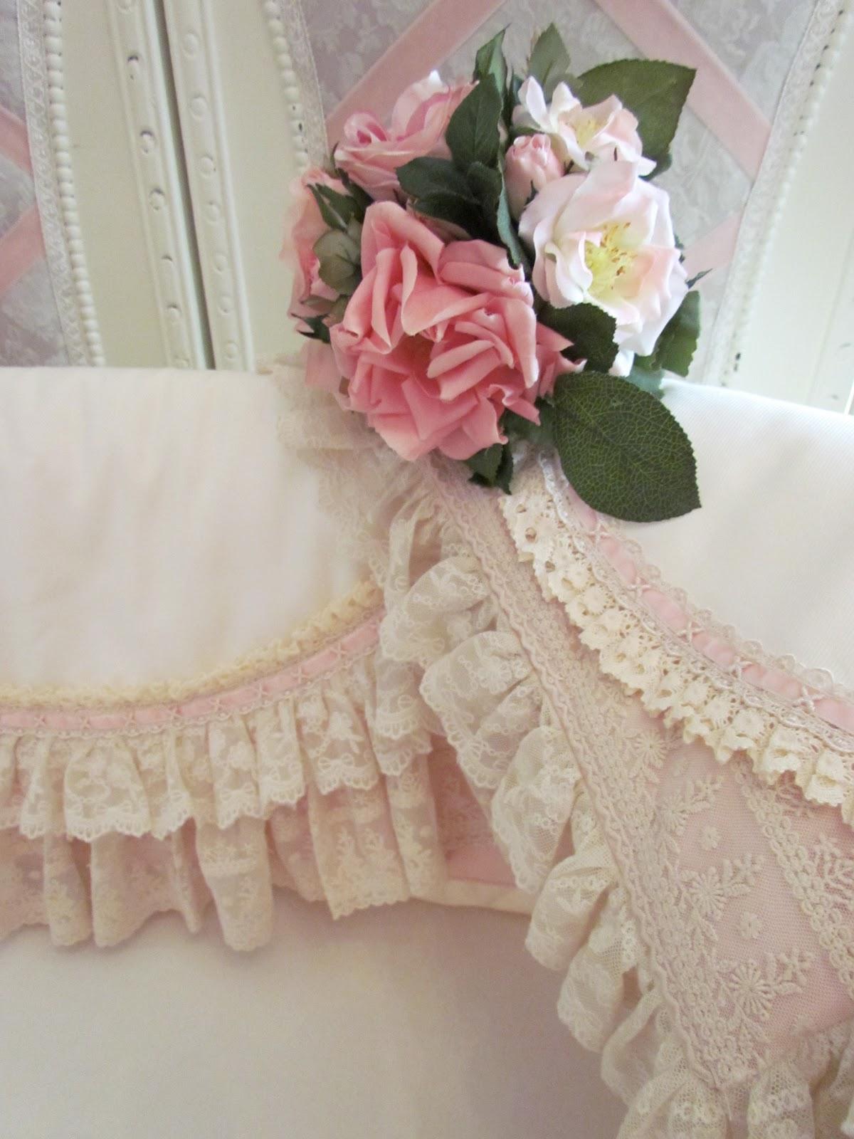 old rose crib bedding