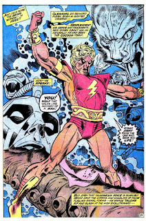 Marvel Premiere #1, Adam Warlock breaks free of his cocoon and reveals his new costume, Gil Kane