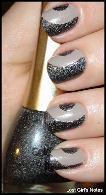 side half-moon manicure
